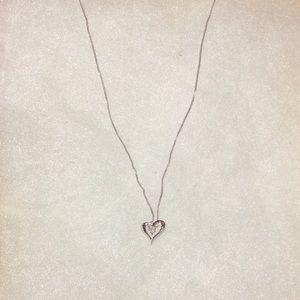 Zales heart diamond pendant necklace